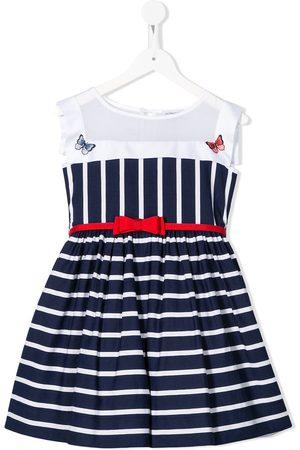 MONNALISA Striped-print sleeveless dress