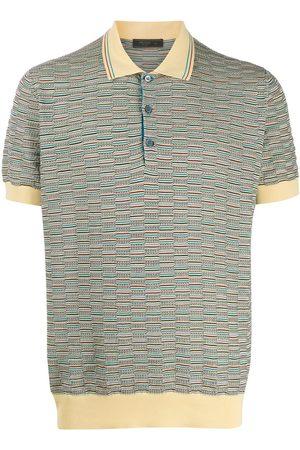 Prada Topstitched pattern polo shirt