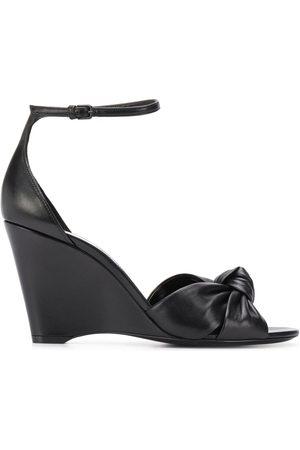 Saint Laurent Knot detail wedge sandals
