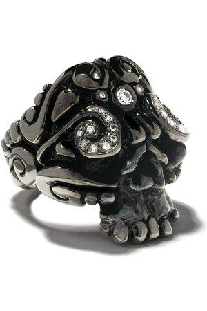 Duffy Rhodium skull ring