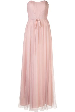Marchesa Notte Bridesmaids Strapless tulle long gown