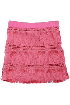 Alberta Ferretti Mini Skirt W/ Fringes