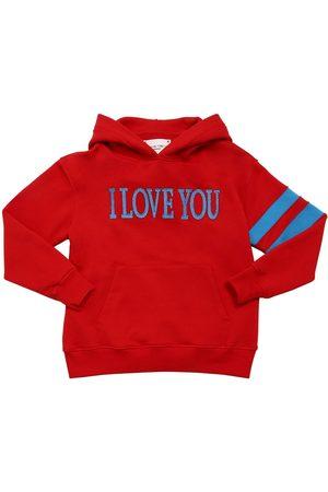 Alberta Ferretti I Love You Cotton Sweatshirt Hoodie