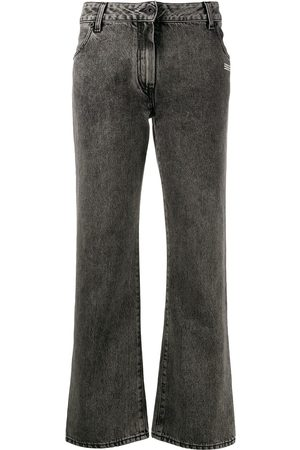 OFF-WHITE Cropped leg mid-rise jeans