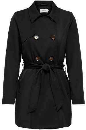 Only Double-breasted Trenchcoat Dames Zwart