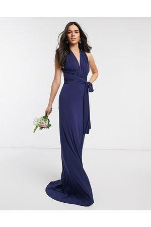 TFNC Bridesmaid multiway maxi dress in navy-Blue