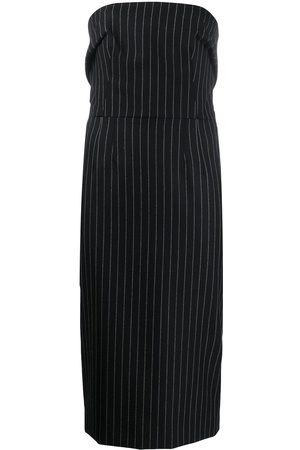 Dolce & Gabbana Dames Feestjurken - Pinstriped strapless fitted dress