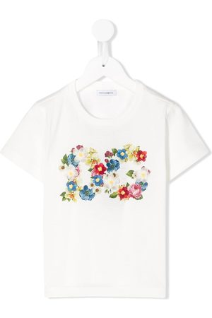 Dolce & Gabbana Floral print logo T-shirt