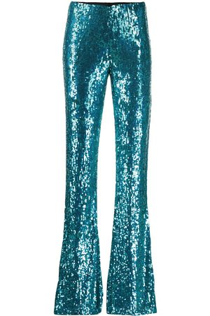 P.a.r.o.s.h. Gummy flared sequinned trousers