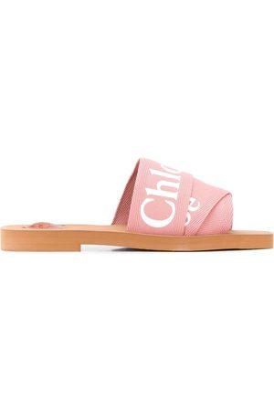 Chloé Woody logo strap sandals