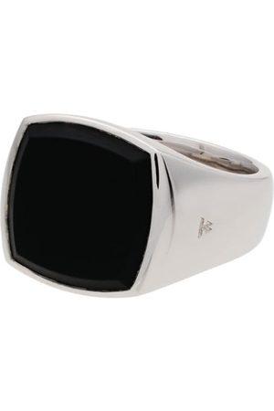 TOM WOOD Heren Ringen - Cushion onyx sterling signet ring