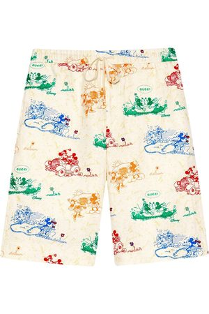 Gucci X Disney Mickey Mouse and Minnie print shorts