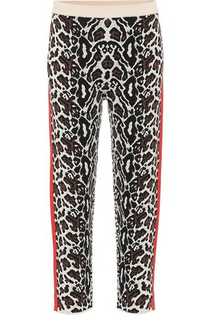 Stella McCartney Cropped intarsia knit trackpants