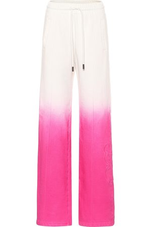 OFF-WHITE Tie-dye cotton trackpants