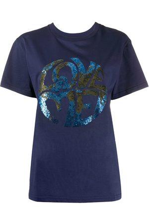Alberta Ferretti Love sequin T-shirt