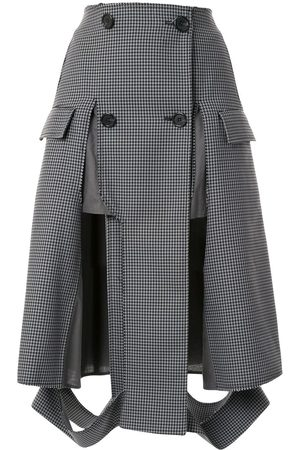 Maison Margiela Houndstooth print button up skirt