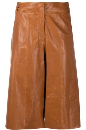 arma leder High rise cropped trousers