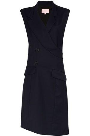 Natasha Zinko Long wrap sleeveless wool vest coat