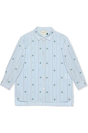 Gucci Fil coupé cotton shirt with bees