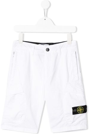 Stone Island Logo patch cargo shorts
