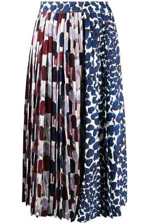 Prada Abstract-print pleated skirt