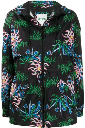 Kenzo Sea Lily-print hooded windbreaker