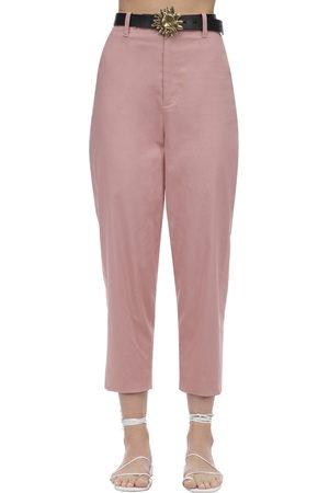 Acheval Pampa Dames Broeken - Al Viento Cropped Cotton Satin Pants