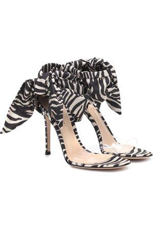 Gianvito Rossi Farah 105 zebra-print satin sandals