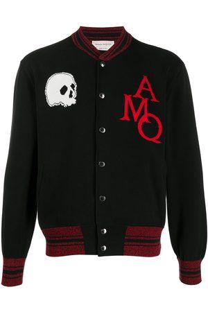 Alexander McQueen Skull intarsia bomber jacket