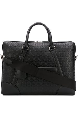 Salvatore Ferragamo Gancini embossed briefcase