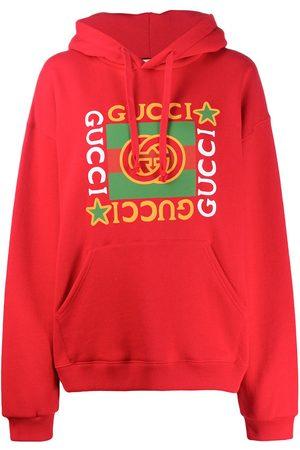 Gucci Logo star print hoodie