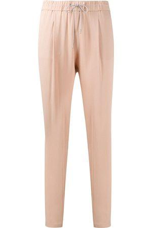 Fabiana Filippi Brass-embellished drawstring trousers