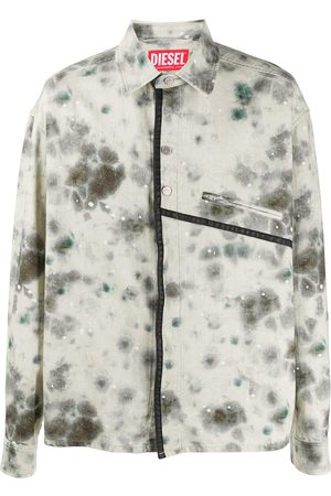 A-cold-wall* Tie-dye print buttoned shirt