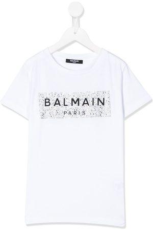 Balmain Embellished logo T-shirt