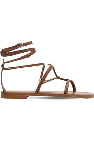 Álvaro Dames Sandalen - 10mm Leather T-bar Sandals