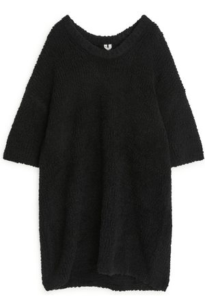 ARKET Oversized Heavy-Knit Dress - Black