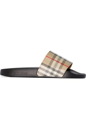 Burberry Check print slides