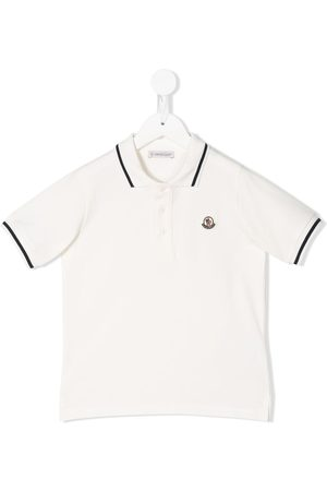 Moncler Jongens Poloshirts - Logo embroidered polo shirt