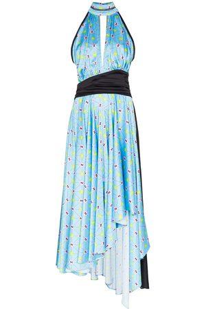 Natasha Zinko Printed halterneck dress