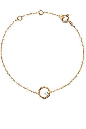 AS29 18kt yellow Mye round beading diamond bracelet