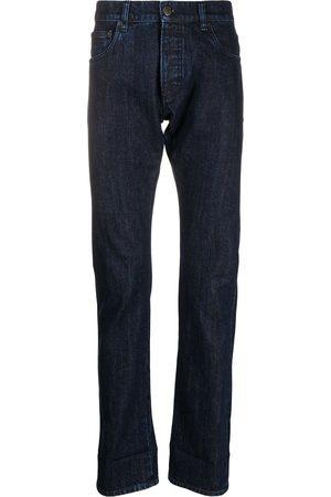 Prada Heren Straight - Logo plaque straight-leg jeans