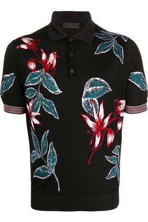 Prada Floral jacquard polo shirt