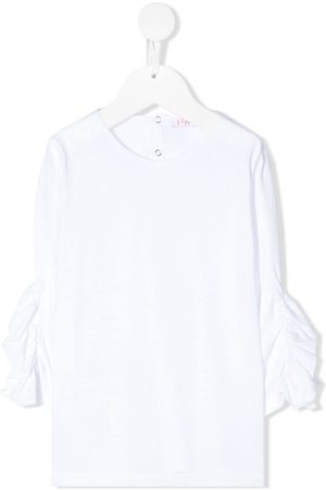Il gufo Ruffled cropped sleeves blouse