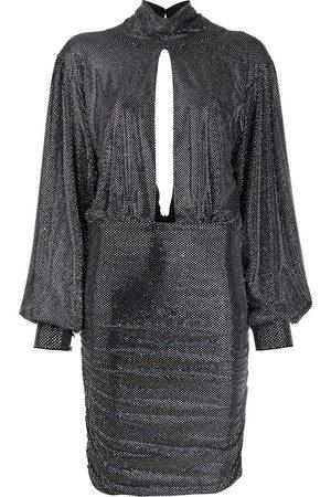Philipp Plein Dames Feestjurken - Encrusted rhinestone jersey dress