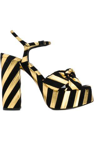 Saint Laurent Dames Sandalen - Bianca striped sandals