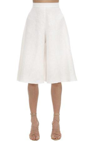LIYA Linen Blend Bermuda Shorts