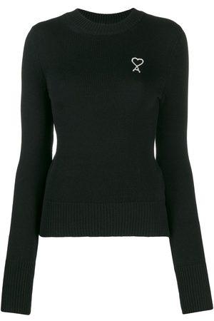 Ami Paris Embroidered logo crew-neck jumper
