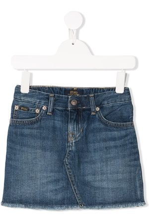 Ralph Lauren Meisjes Jeansrokken - Frayed denim skirt