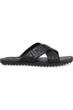 Fendi Embossed FF motif flat sandals