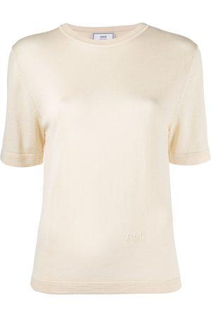 Ami Paris Knitted short-sleeve T-shirt